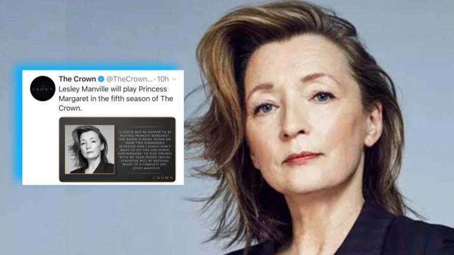 """Lesley Manville será la princesa Margarita en la última temporada de """"The Crown"""""""
