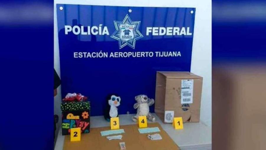 Aseguran muñecos de peluche con droga en Baja California