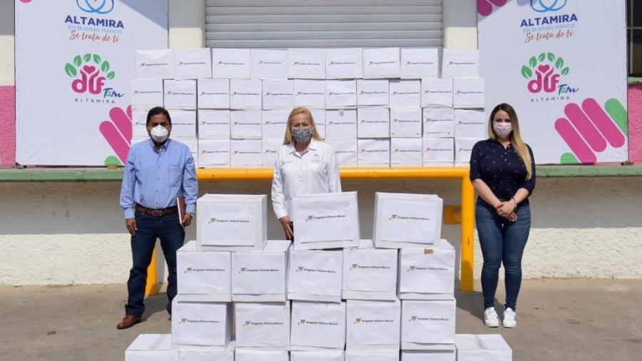 Recibe Gobierno de Altamira donativo de la empresa Dragados Offshore