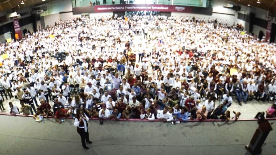 Miles de ciudadanos manifiestan apoyo a Elifa, Lety, Frías  y Carlos Eliud, candidatos de MORENA Matamoros