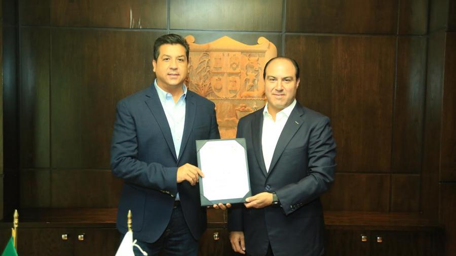 Gobernador nombra a Carlos García González como Secretario de Desarrollo Económico