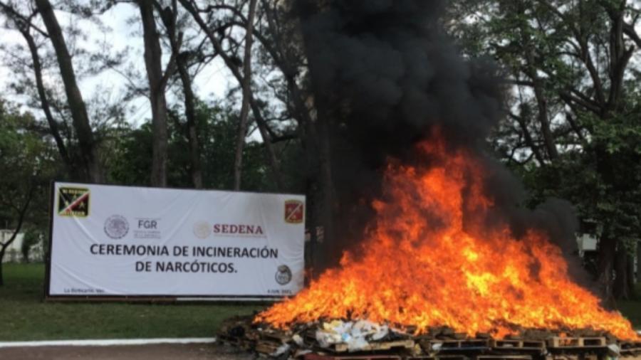 FGR incineró más de 11 toneladas de drogas en tres estados