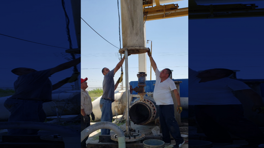 Instala COMAPA equipo de bombeo en acueducto Anzaldúas