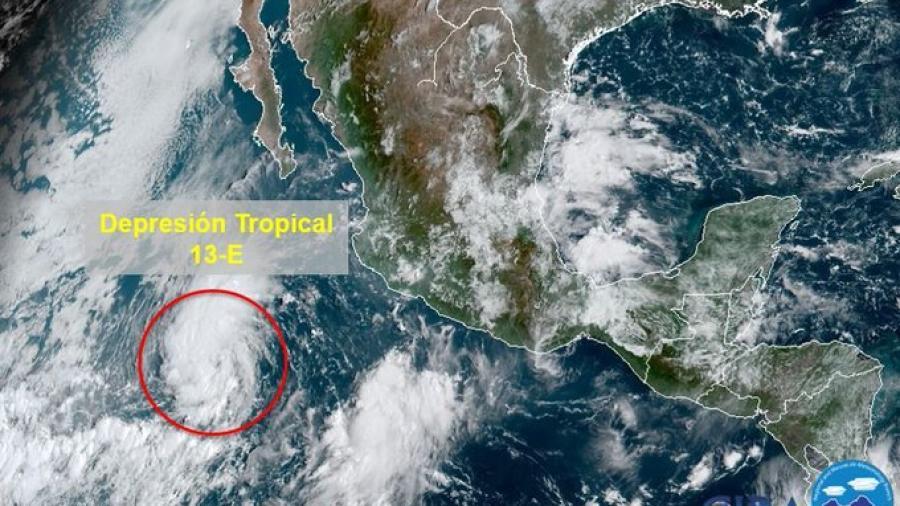 Se forma Depresión Tropical 13-E en el Océano Pacífico