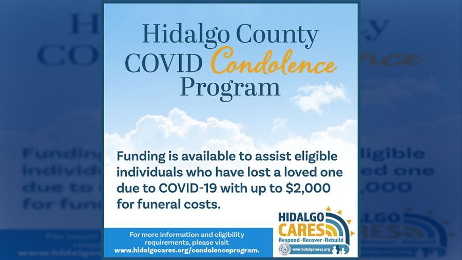 Condado Hidalgo ofrece Programa de Condolencias COVID
