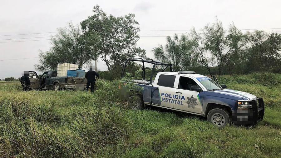 Aseguran camioneta usada para transportar combustible ilegal