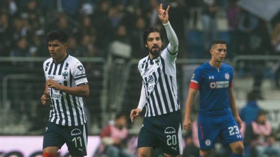Rayados vence 1-0 al Cruz Azul en la semifinal de ida de Apertura 2018