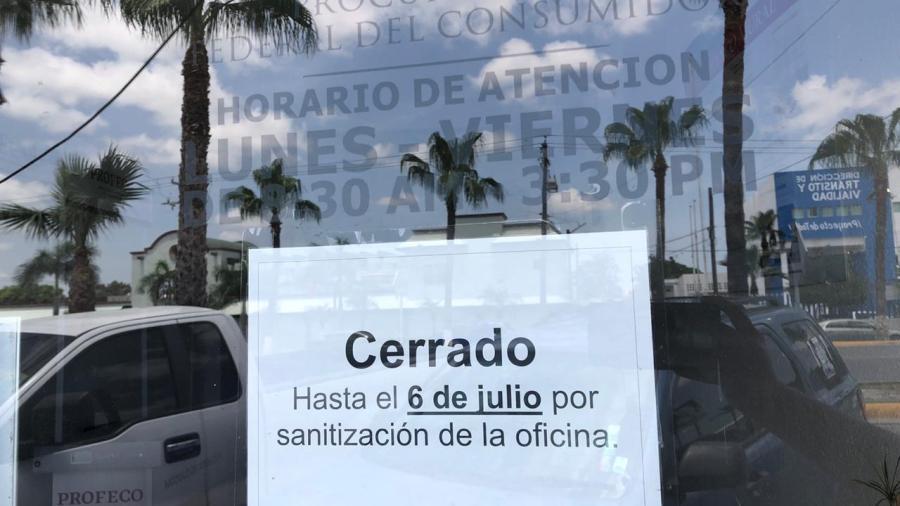 Oficinas de PROFECO reabrirán el lunes tras contagio de trabajador.