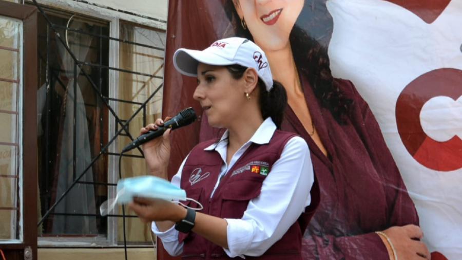 Claudia Hernández se reúne en distintos sectores de la ciudad para escuchar las necesidades de la población