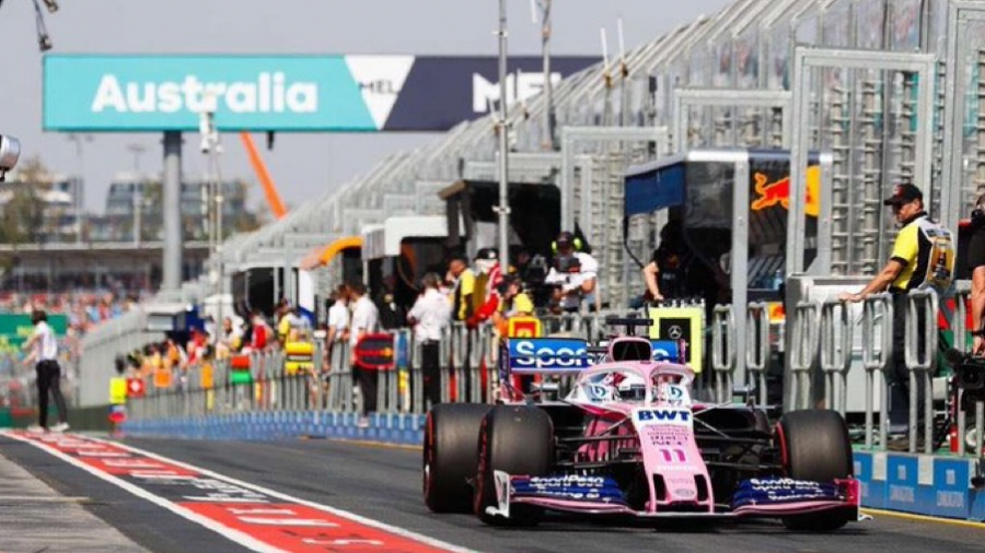 Sergio Pérez se coloca en los 10 primeros del Gran Premio de Australia