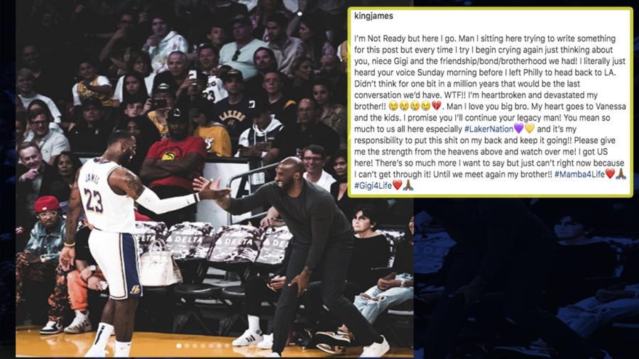 """""""¡Te prometo que continuaré con tu legado!"""", LeBron a Kobe Bryant"""