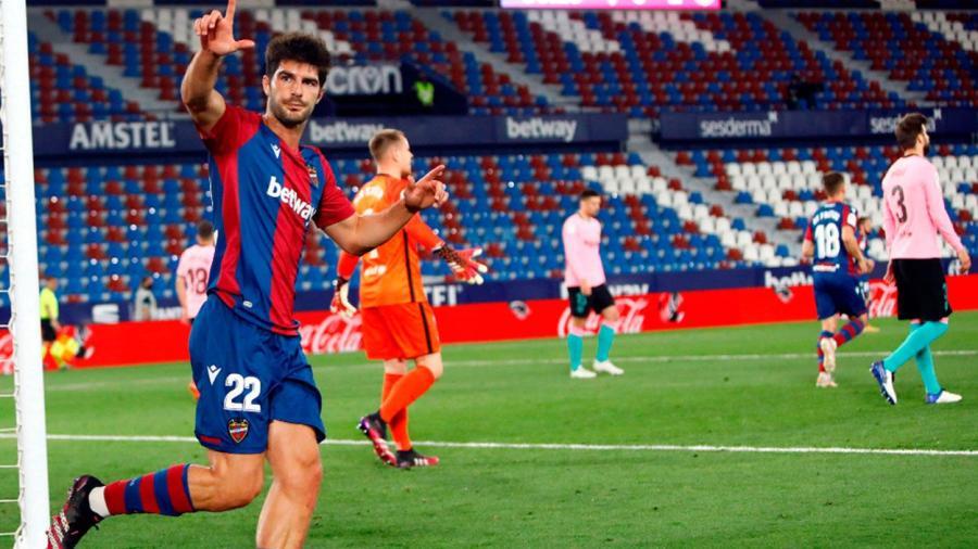 El Barcelona empata de visita contra el Levante