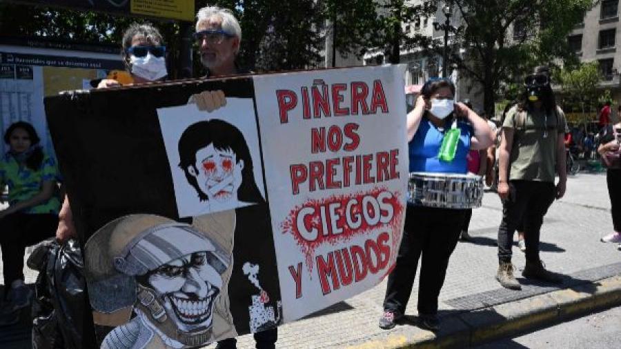 Chile suspende el uso de perdigones y balines