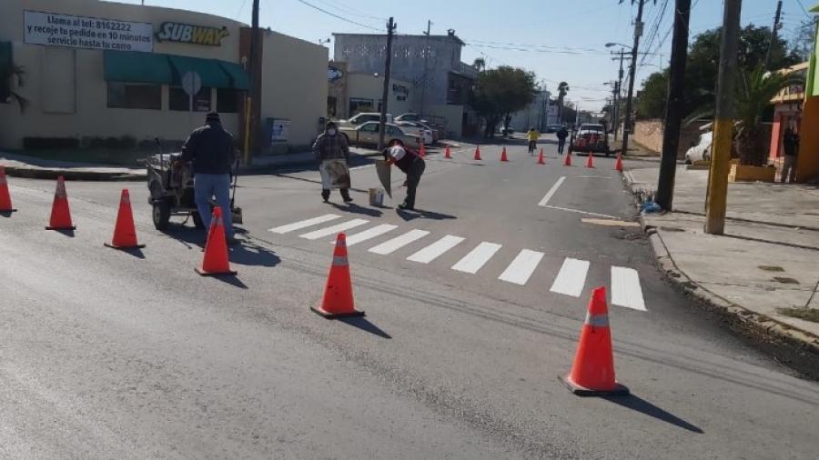 Embellecen principales avenidas de Matamoros