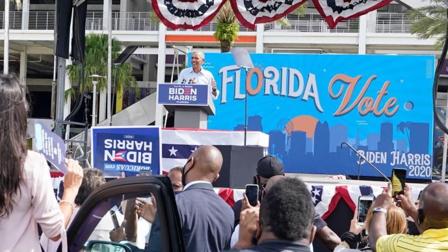 Obama e Ivanka visitan Florida para buscar votos en ambas campañas presidenciales