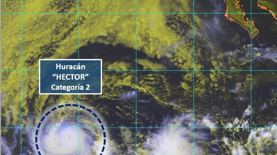 """""""Héctor"""" se intensifica a huracán categoría 2"""