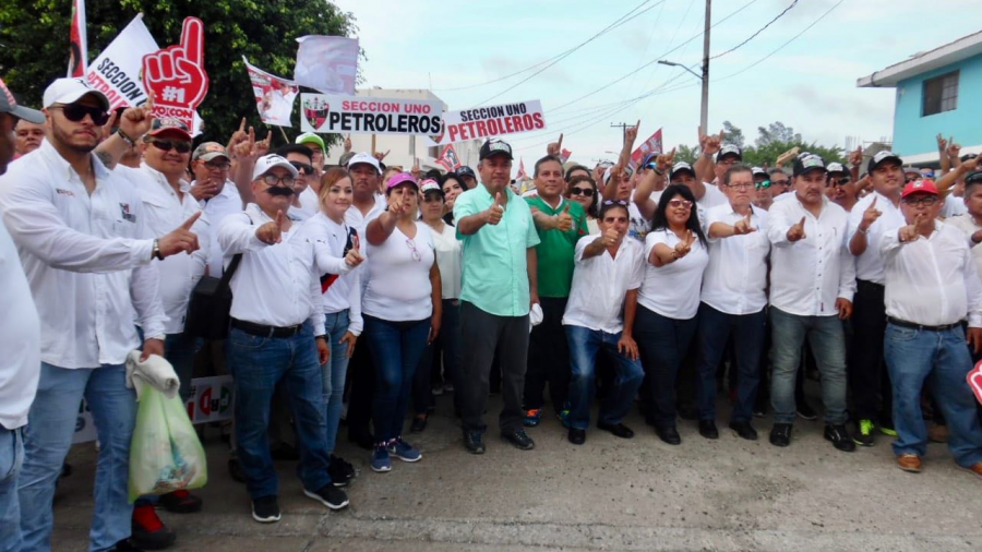 Va todo el apoyo de los petroleros para Julio César Barrientos: Esdras