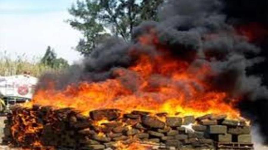 Incinera PGR más de 4 toneladas de droga en Nuevo León