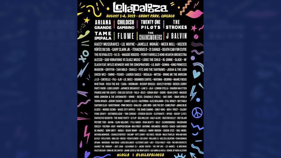 Conoce el line up del Lollapalooza Chicago 2019