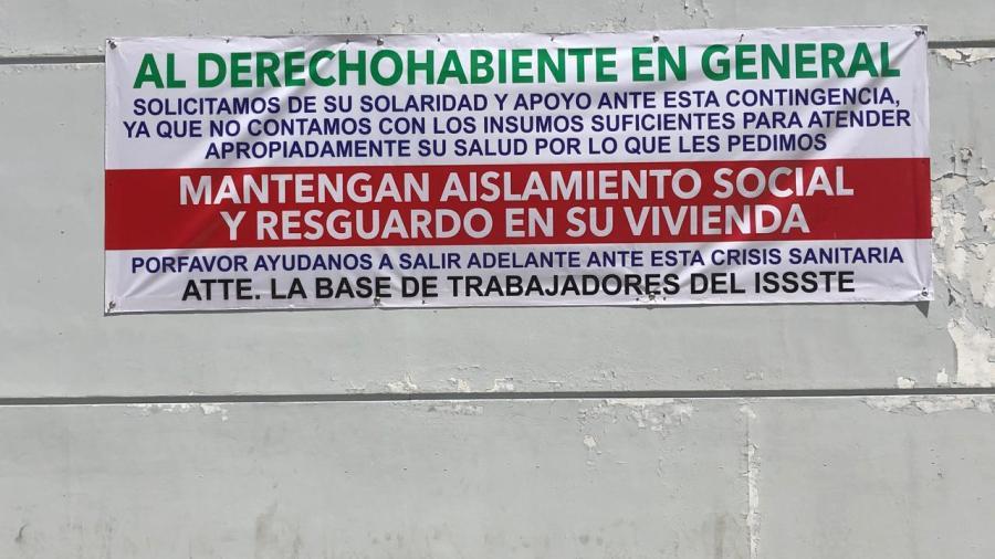 Trabajadores del ISSTE piden protección ante contingencia