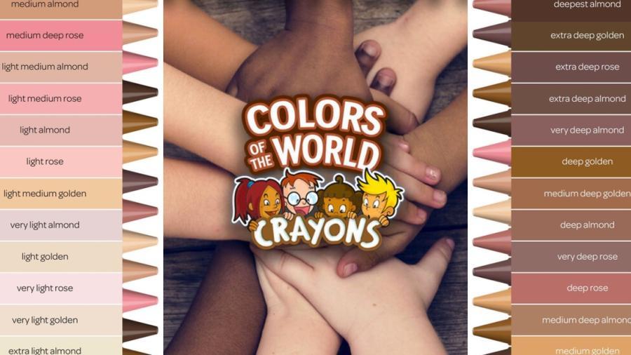 """Crayola lanza línea """"Colores del Mundo"""" que incluye 24 tonos de piel"""