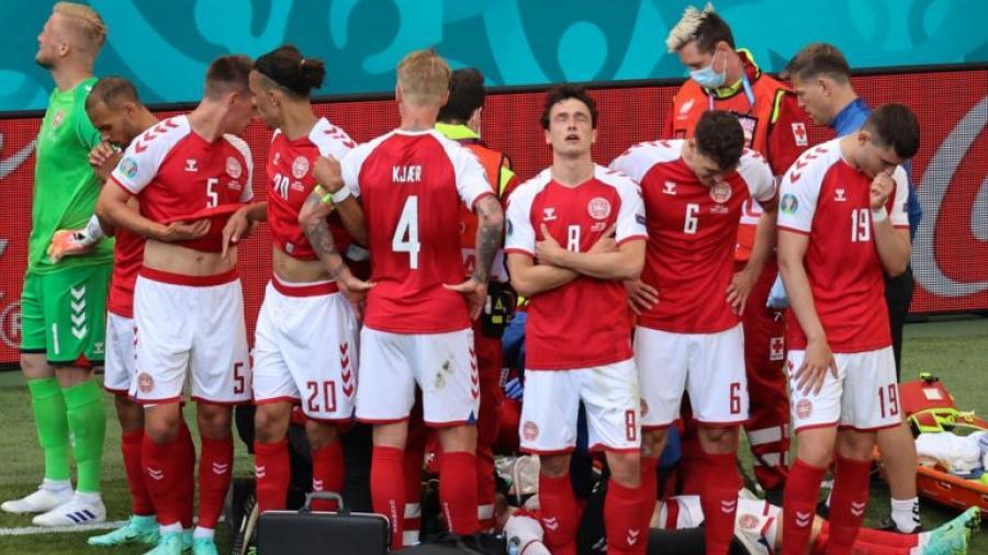 Suspenden el partido Dinamarca vs Finlandia por desmayo de Christian Eriksen