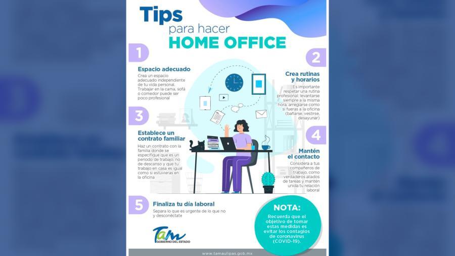 ¿Home Office? Estos tips te ayudarán