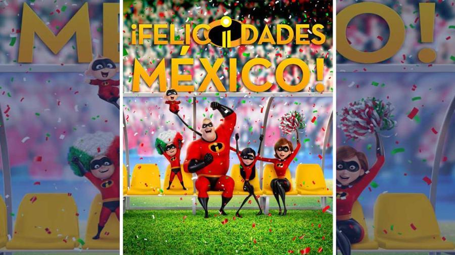 """""""Los increíbles 2"""" festejan triunfo de México"""
