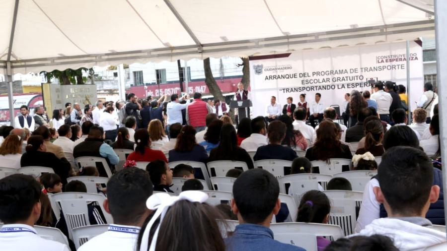 """Beneficia Madero a más de 600 estudiantes con """"Transporte Escolar Gratuito"""""""