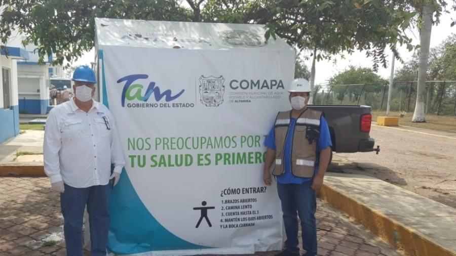 Implementa COMAPA Altamira acciones sanitarias ante pandemia del COVID 19