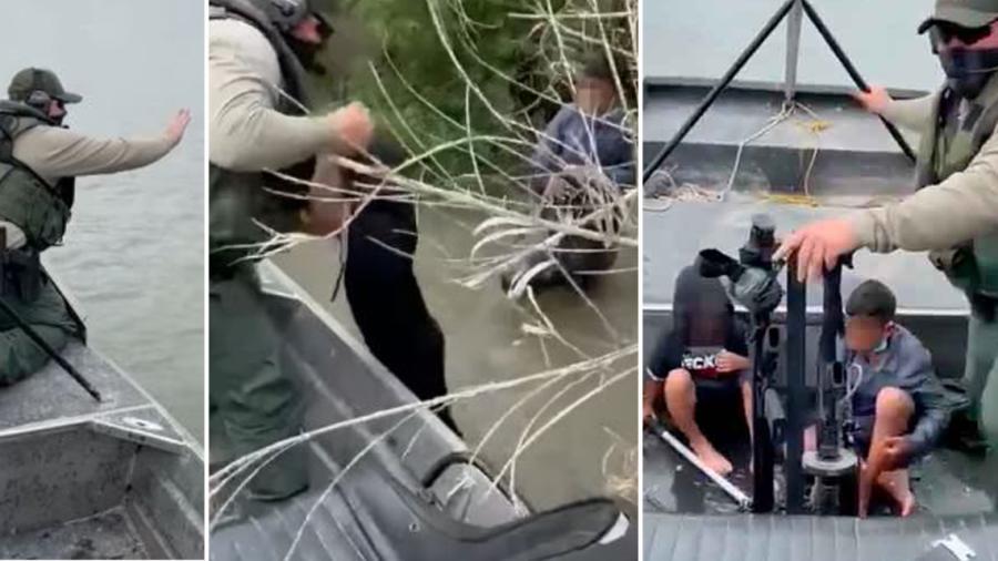 Rescata Patrulla Fronteriza a dos niños migrantes en el Río Bravo
