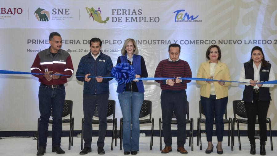 Gobierno de Tamaulipas pone en marcha Feria de Empleo de Industria y Comercio, Nuevo Laredo 2020