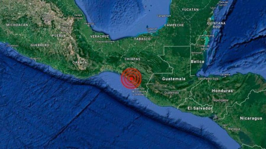 Chiapas amanece con sismo de magnitud 4.4