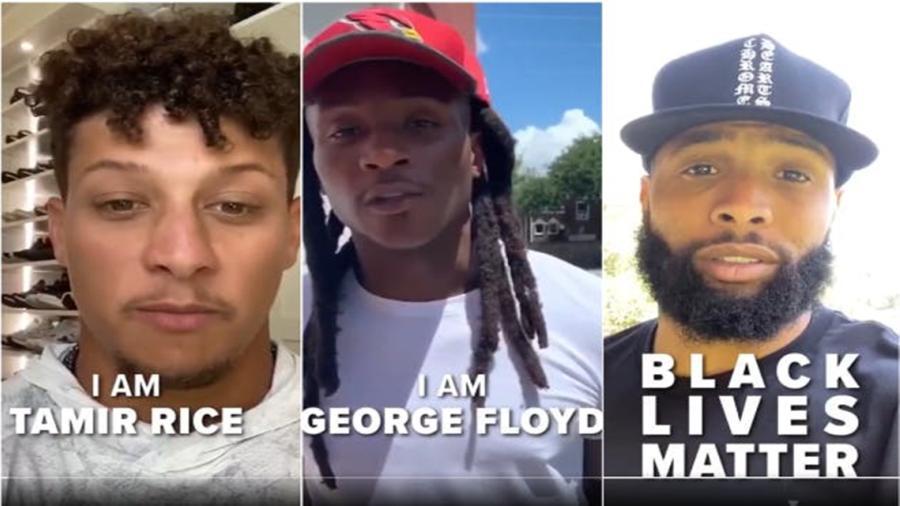 Jugadores de la NFL muestran su apoyo contra el racismo en un conmovedor video