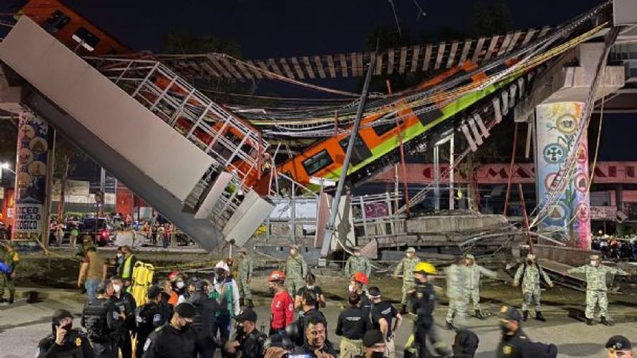 Suman 25 muertos por el colapso del metro de la línea 12; todas las víctimas ya fueron identificadas