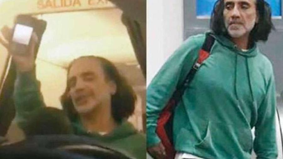 Alejandro Fernández irreconocible y ebrio genera terror en un avión