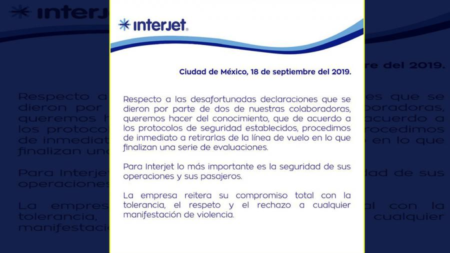 Interjet retira de vuelos a las mujeres piloto implicadas en la polémica publicación