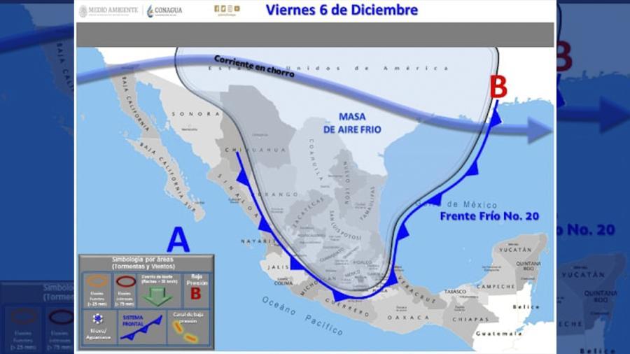 Anuncia Protección Civil descenso de temperaturas por llegada de frentes fríos 20 y 21