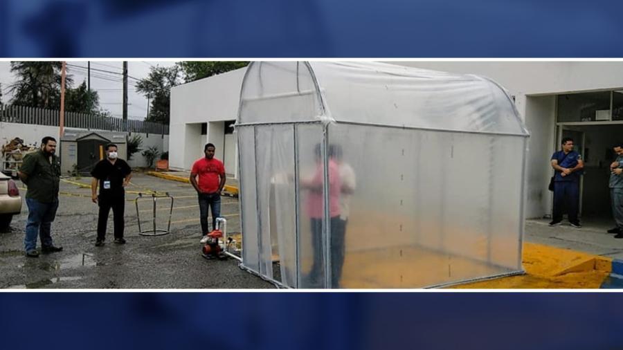 Instalan en Tamaulipas túnel sanitizante contra el COVID-19