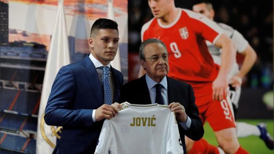 Luka Jovic es presentado al Real Madrid