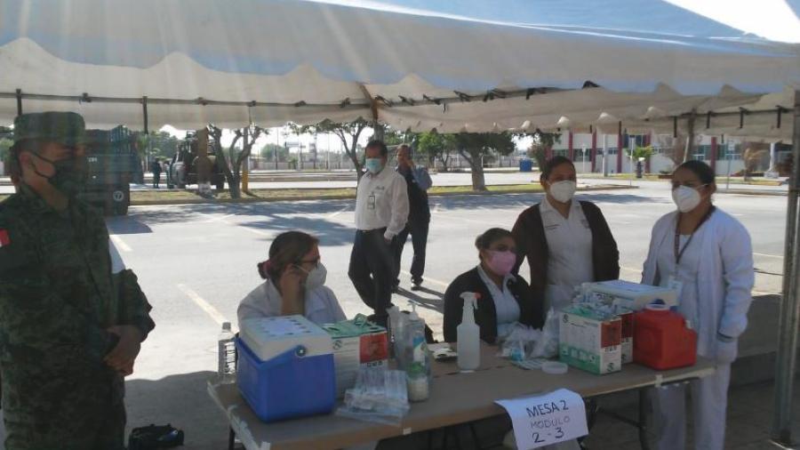 Inicio la aplicación de 12 mil vacunas en Matamoros para el sector educativo