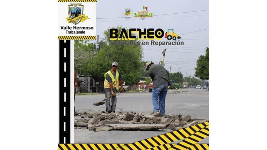 Realizarán bacheo en la Calle Tamaulipas