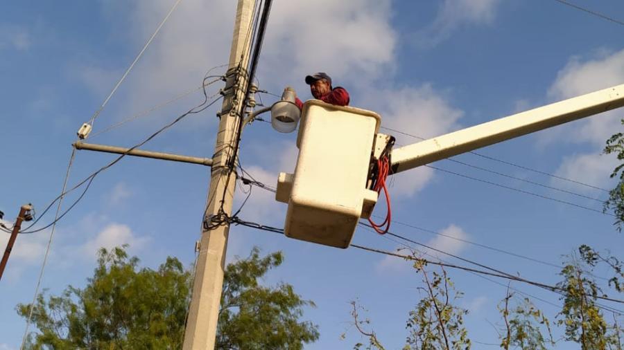 Repara Municipio red de alumbrado y contribuye a la seguridad
