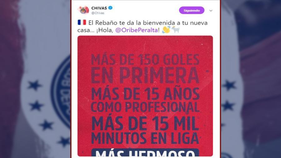 Oficial: Oribe Peralta es nuevo refuerzo de Chivas