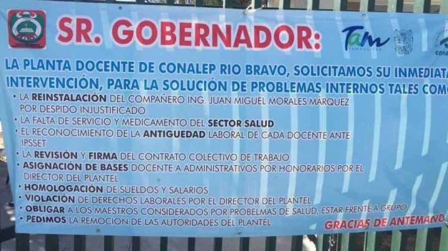 Buscan se atiendan problemas internos en Conalep Río Bravo