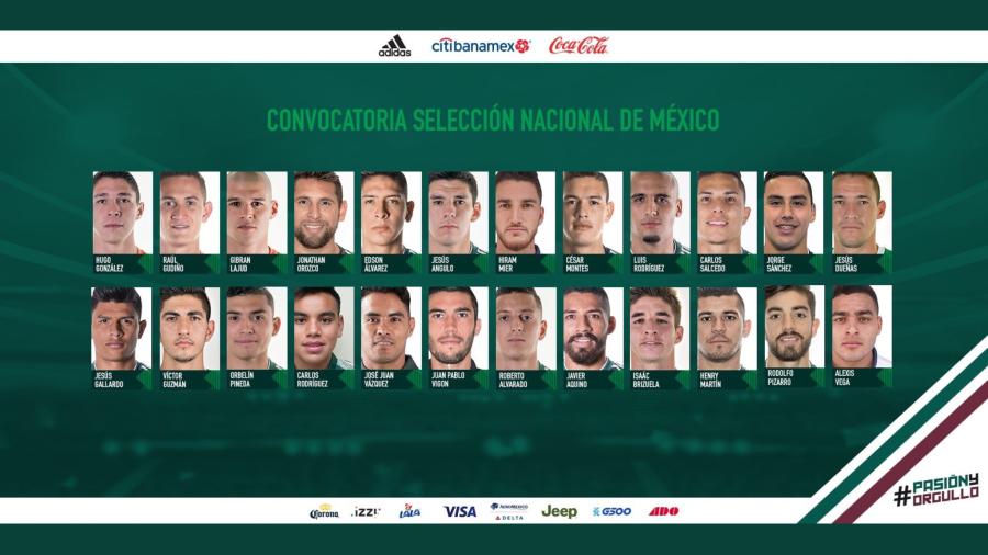 Se concentrará este domingo la Selección Nacional de México