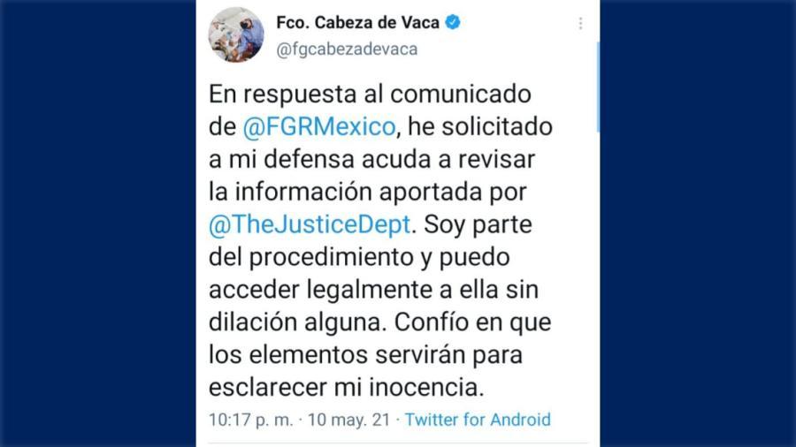 CDV responde al comunicado de la FGR sobre su situación legal
