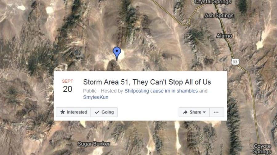 """""""Asaltemos el Área 51, no pueden pararnos a todos"""""""