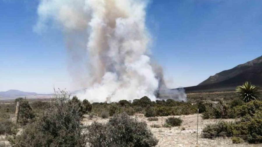 Atienden incendios en Sierra de la Catana, Saltillo
