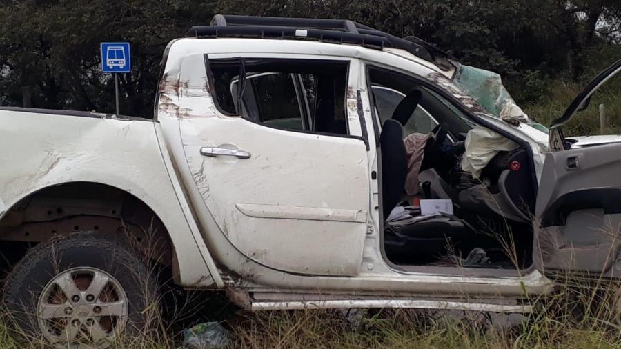 Tres heridos fue el saldo de fuerte choque registrado en la zona industrial de Altamira.